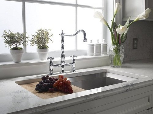 What is the Best Quartz Countertop to Pair with a Cloud White Kitchen . Quartz Countertops For White Cabinets. Home Design Ideas