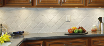 which backsplash works best with a corian countertop