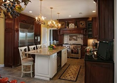 Kitchen Cupboards Different Colours : kitchen island with different color cabinets and countertops
