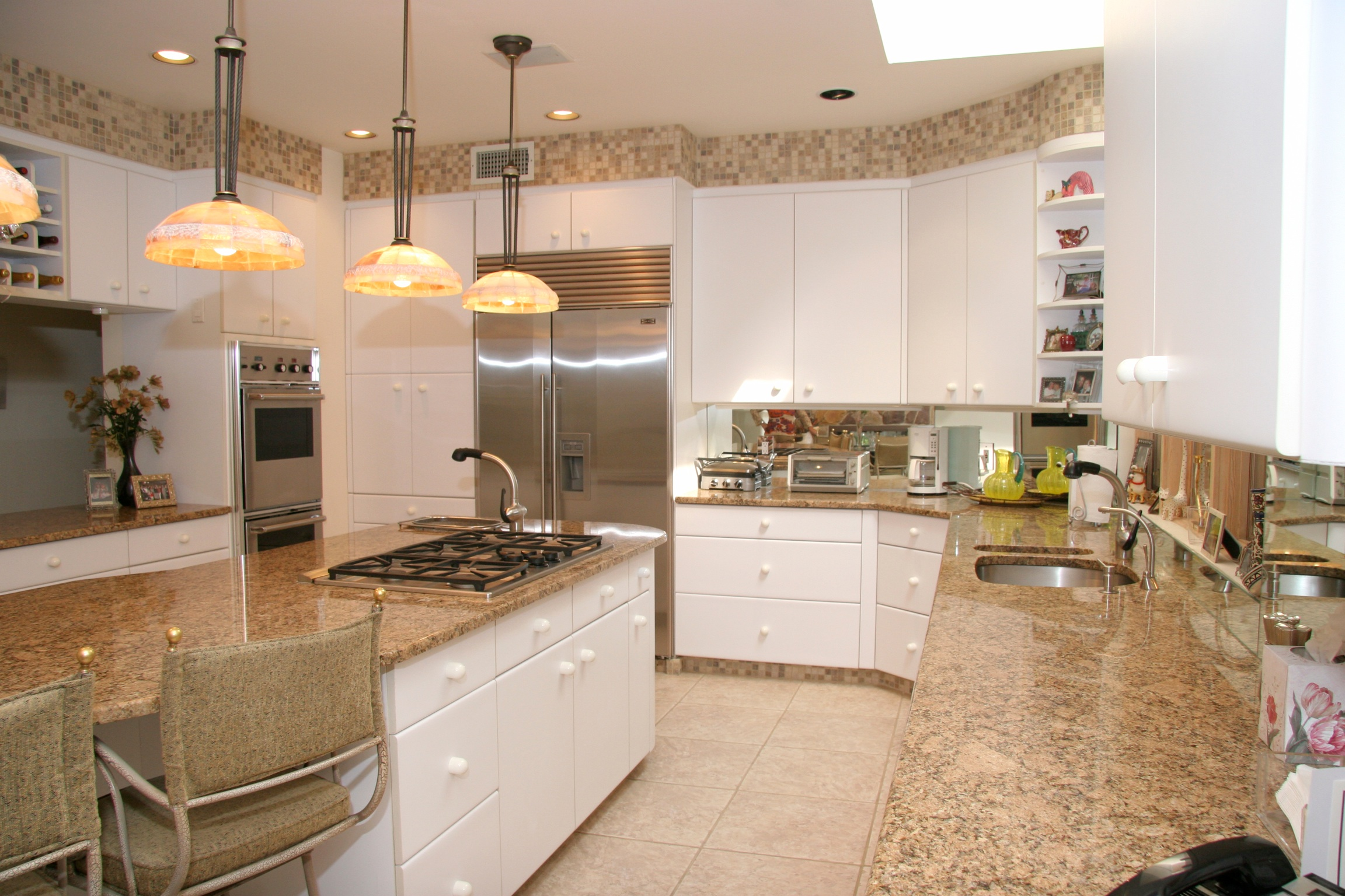 White Kitchen Cabinets With Beige  Home Decorating Ideas