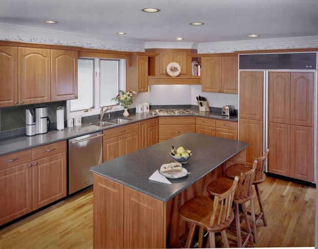 While this is the rule, Cherry Pear cabinets can be the exception
