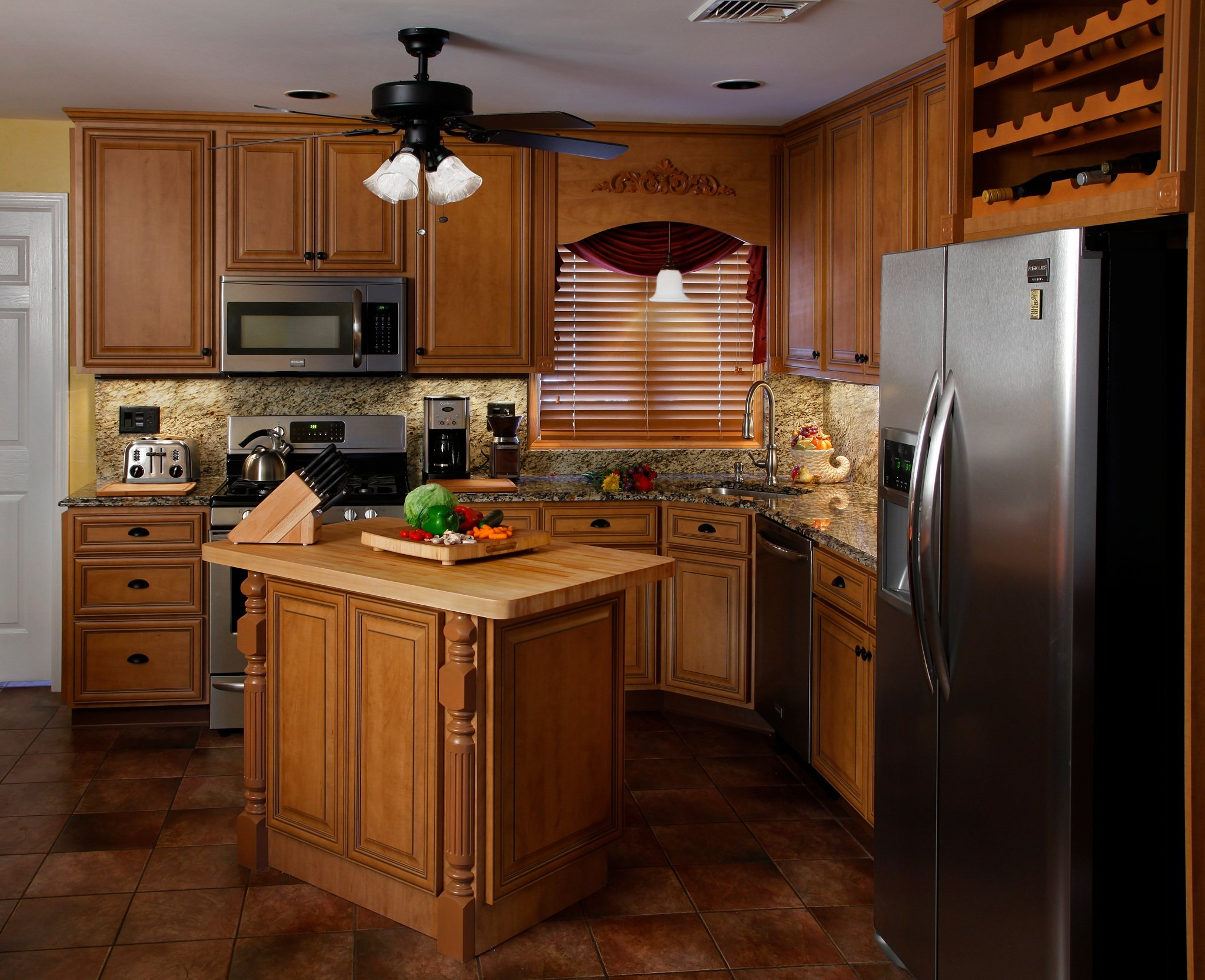 Marvelous photograph of How to Clean Your Refaced Kitchen Cabinets with #723F1C color and 2048x1666 pixels