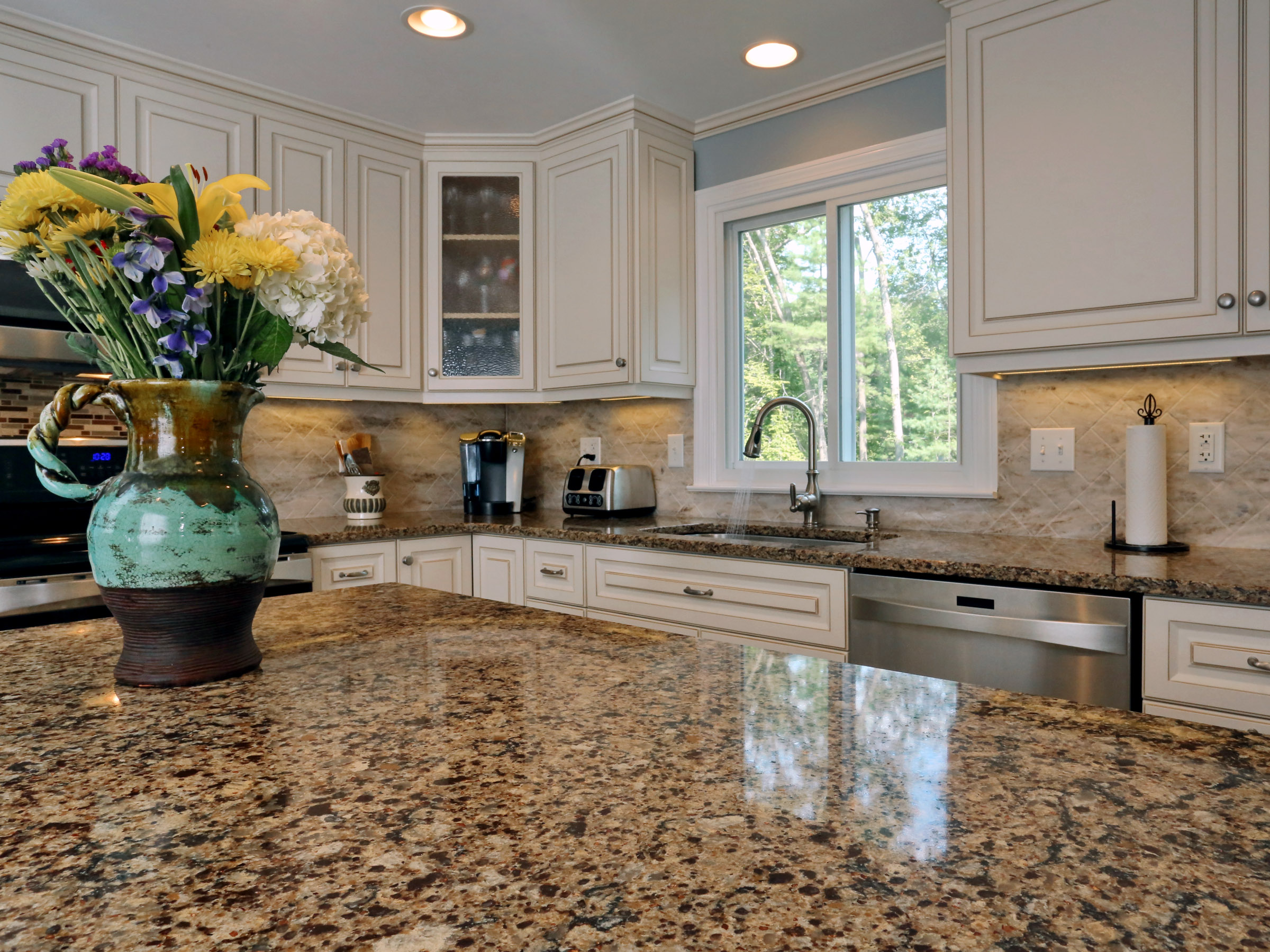 The real focal point of this kitchen both in durability and style is