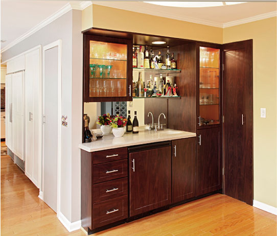 A modern kitchen transformation for Chocolate pear kitchen cabinets