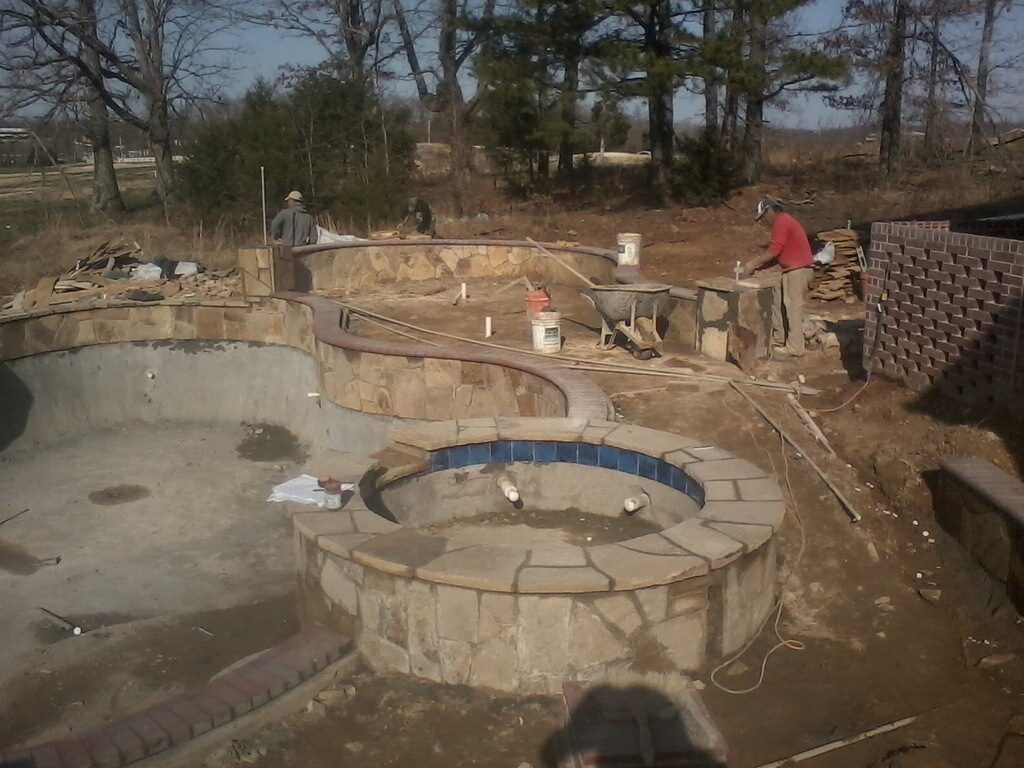 Concrete pool construction arkansas pool contractor for Concrete pool construction