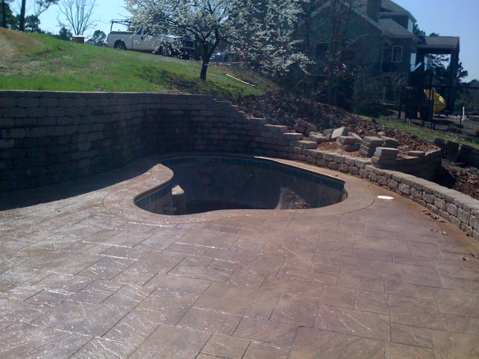 Concrete pool construction arkansas pool contractor for Concrete pool construction
