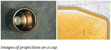 projections on cap