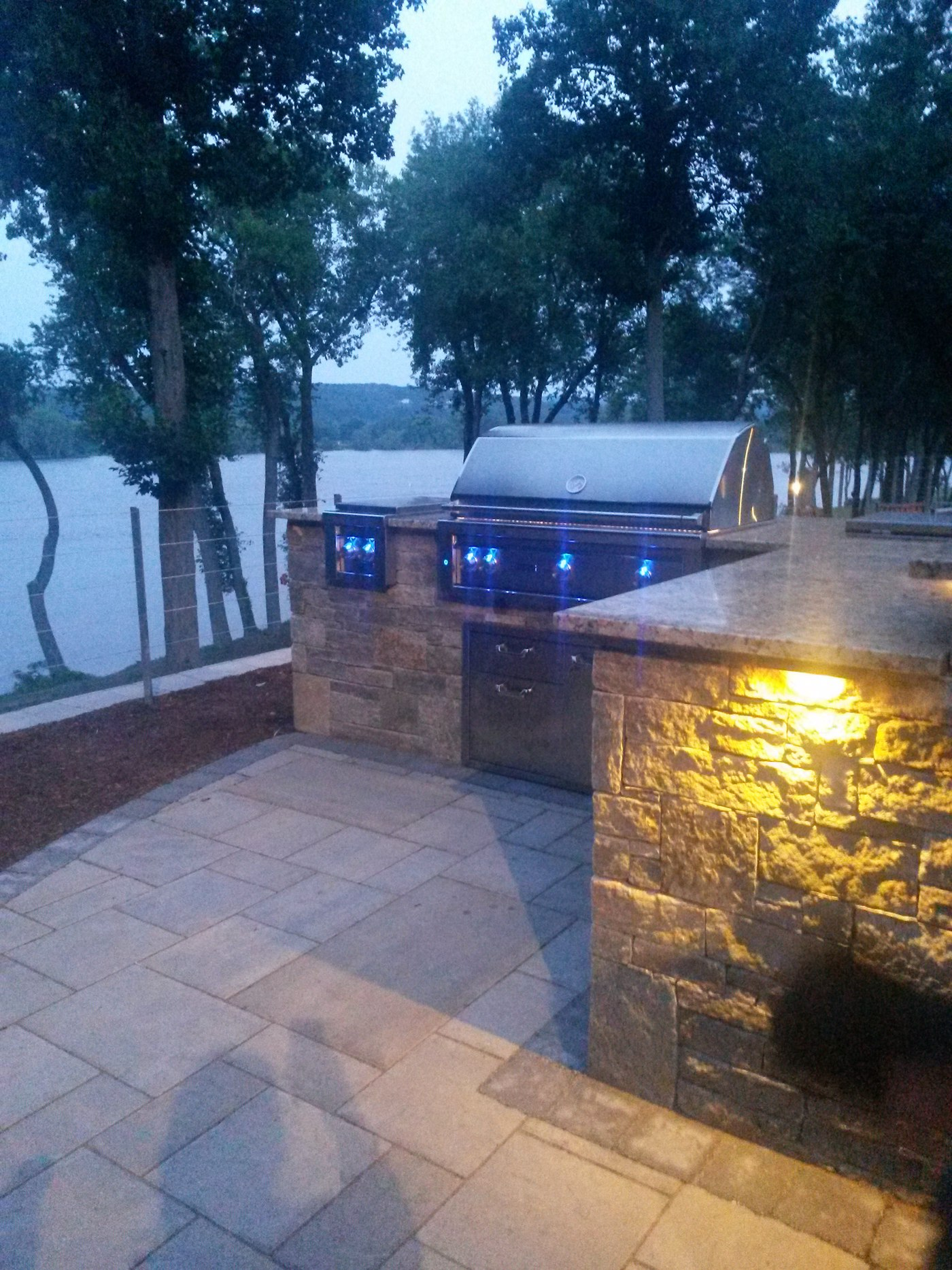 Outdoor Kitchen Lighting Built In Outdoor Kitchens In Connecticut
