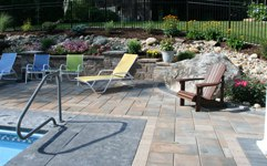 pool patio with techo-bloc royale