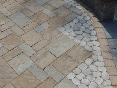 Paver Installation with Accents and Banding