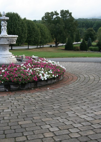 paver driveway in Somers, CT. Installed by Bahler Brothers