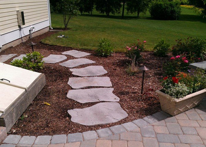 Stepping stone pathway by bahler brothers - Stepping stones for walkways ...