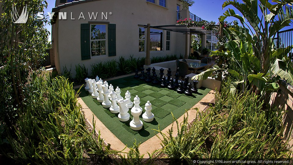 Syn lawn artificial turf is pet friendly and child safe