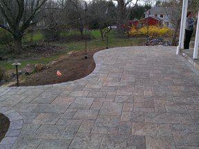 Paver Patio blu 60 paver by Bahler Brothers in CT