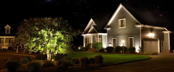 Quality outdoor lighting keeps unwelcome visitors away for Quality landscape lighting