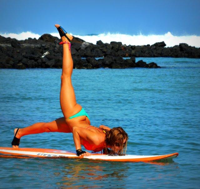 Beach Yoga Pose Surf's up Yoga For The Beach