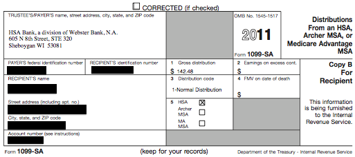 1099-sa form  Form: NEW FORM 13 FOR HSA CONTRIBUTIONS
