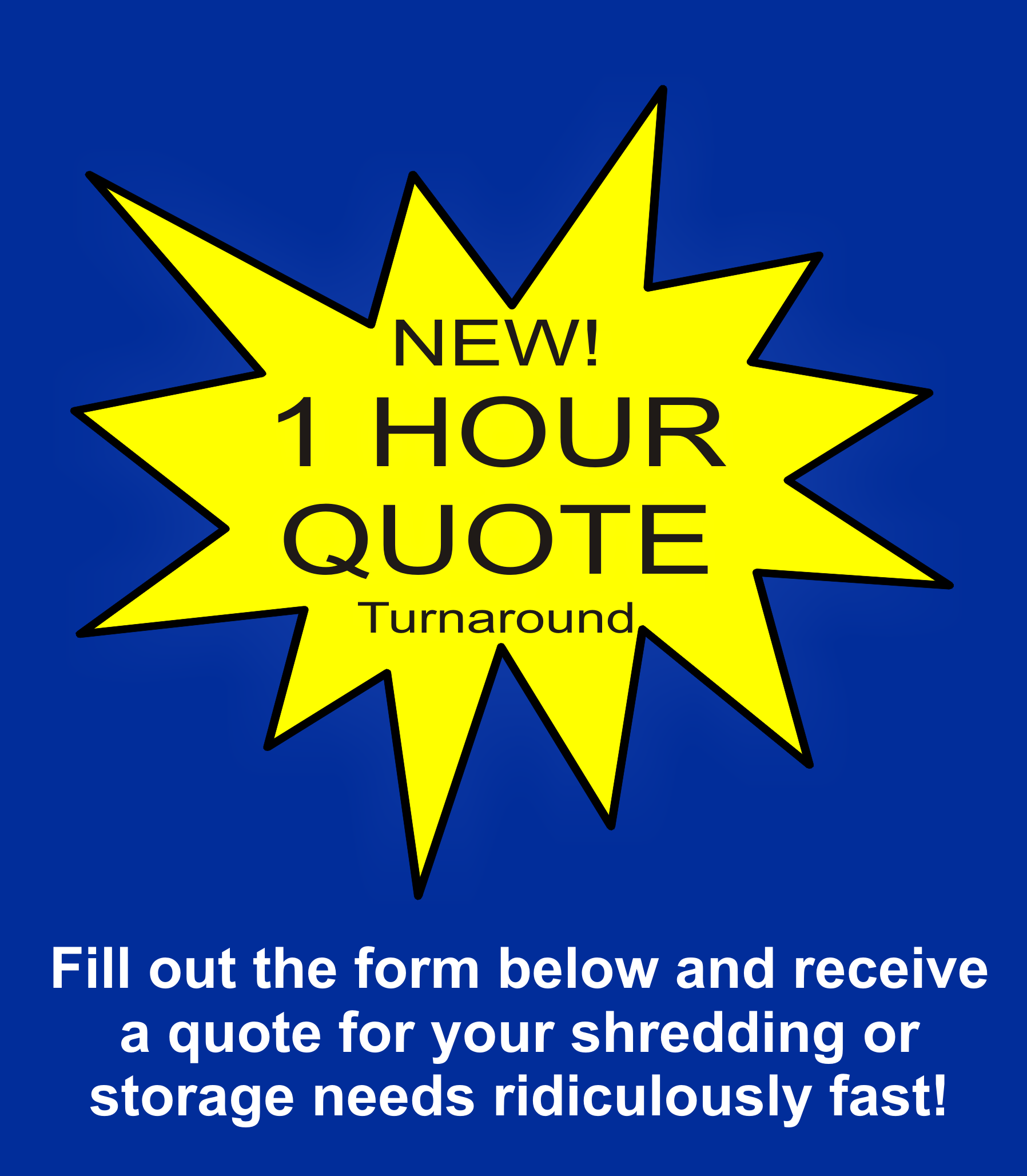 Fast document shredding quote
