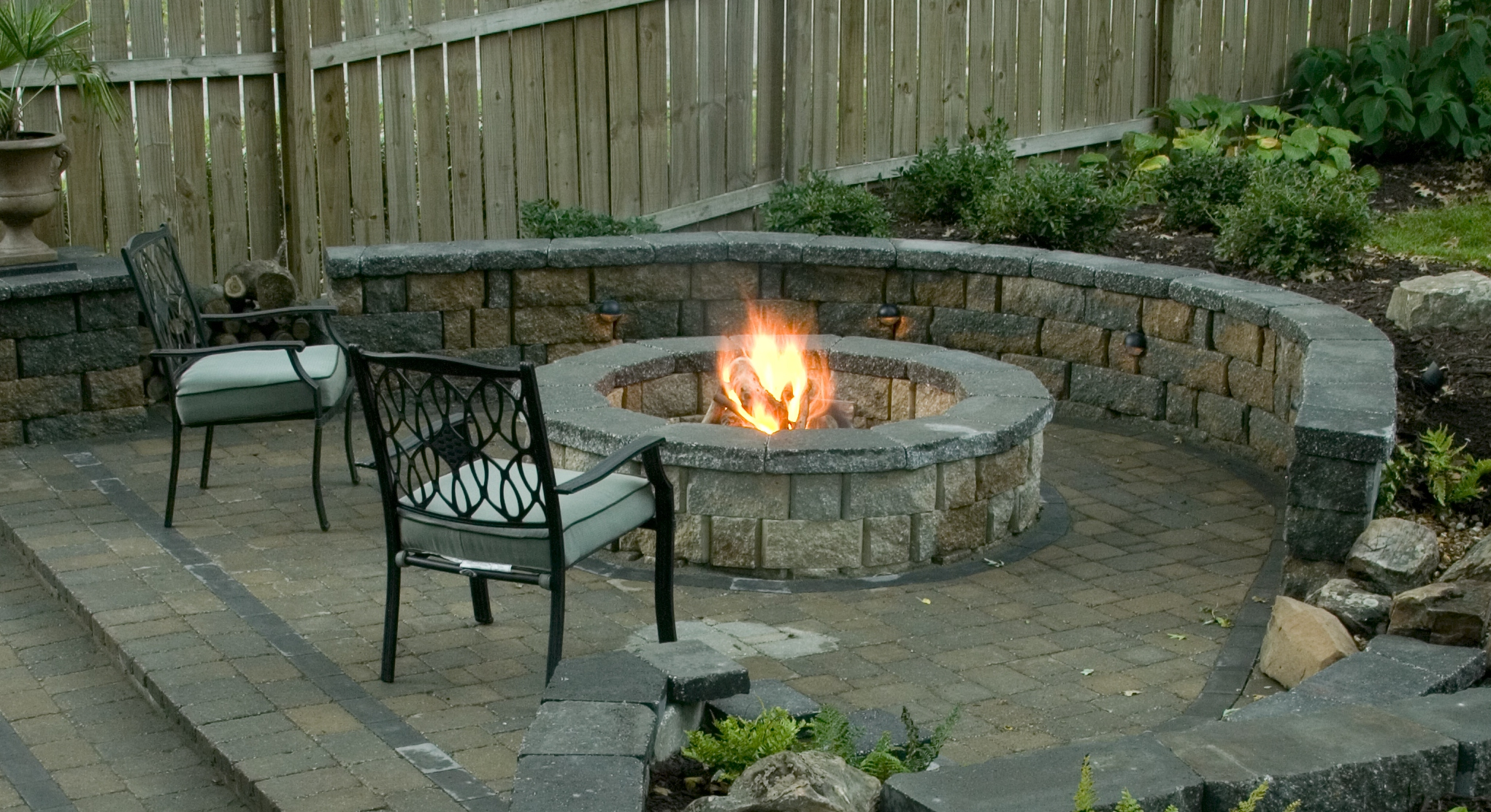 outdoor firepit firering or fireplace