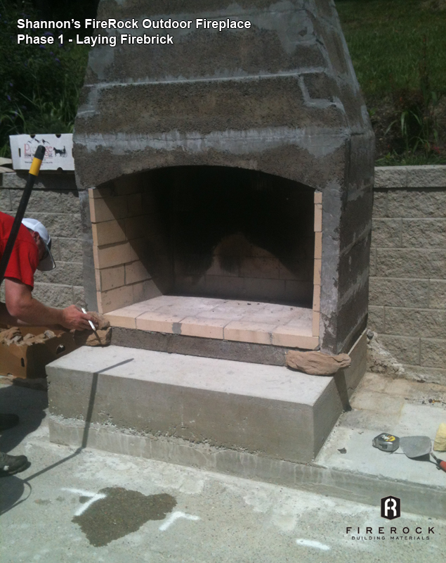 Diy couple adds focal point to patio with firerock outdoor fireplace solutioingenieria Choice Image