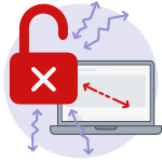 Not secure website icon - vulnerable data