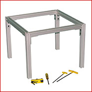 machine frame and guarding aluminum extrusion vs welded steel