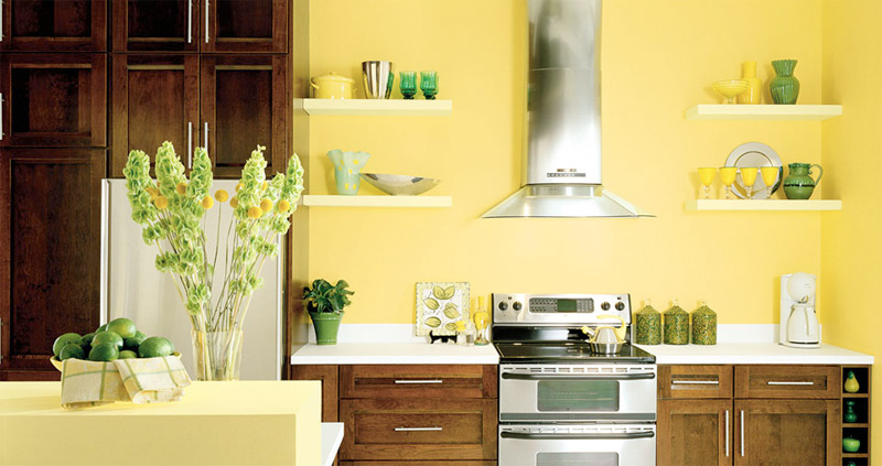 yellow kitchen paint colors