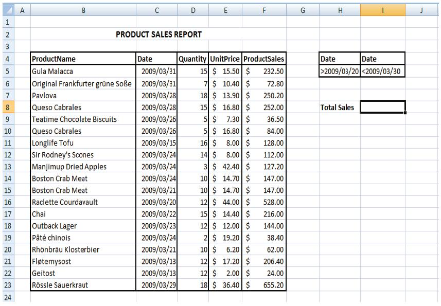 Excel Tips and Tricks: DataBase Functions