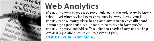 web analytics home call to action
