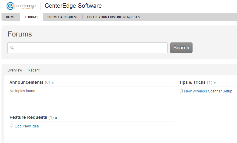 CenterEdge Support Portal