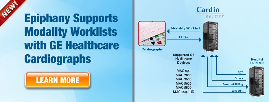 Epiphany Supports Modality Worklists with GE Cardiographs