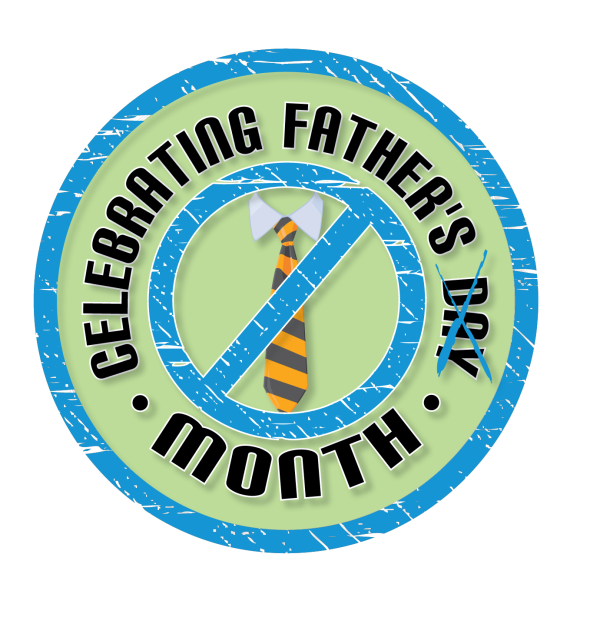 celebrating fathers month logo