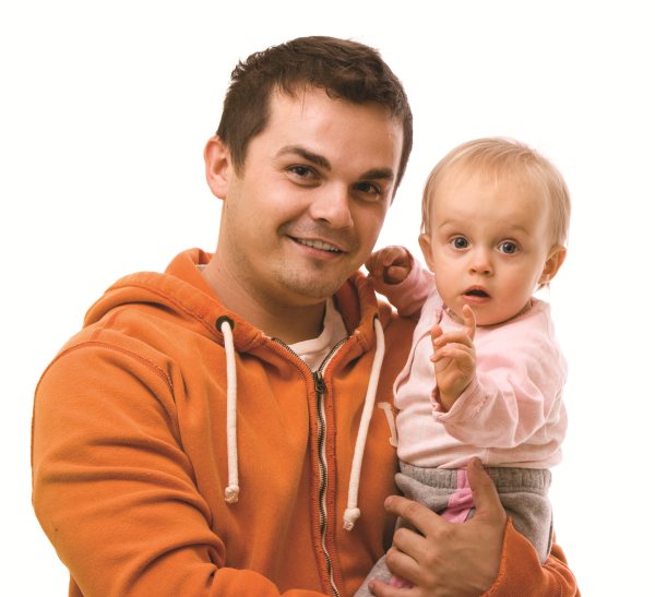 Dad with Infant Girl