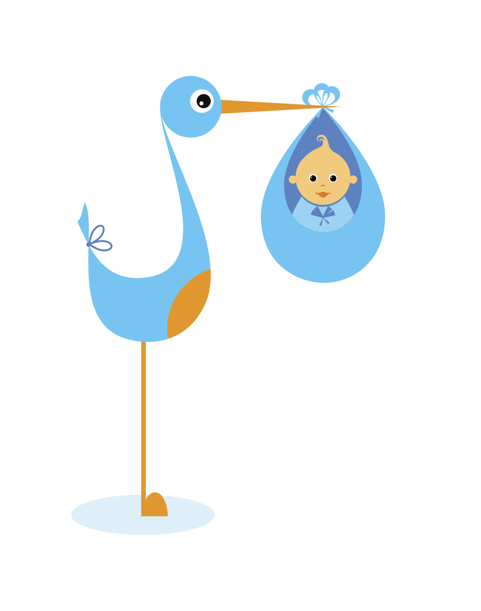stork and baby clipart free - photo #14