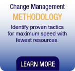 Change Management Methodology. Identify proven tactics for maximum speed with fewest resources.
