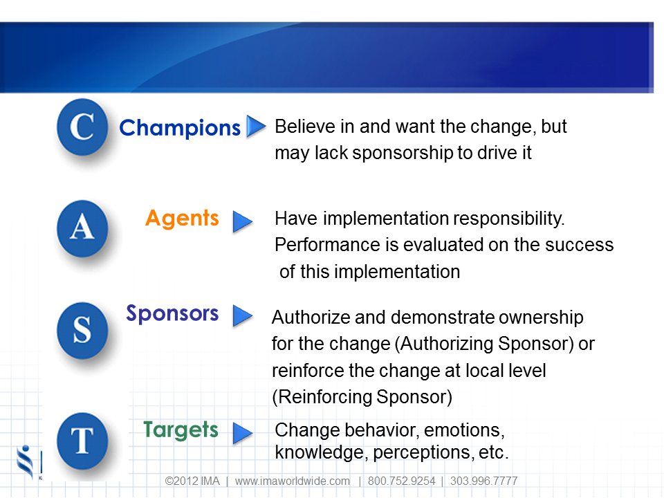 Change Management Methodology Roles