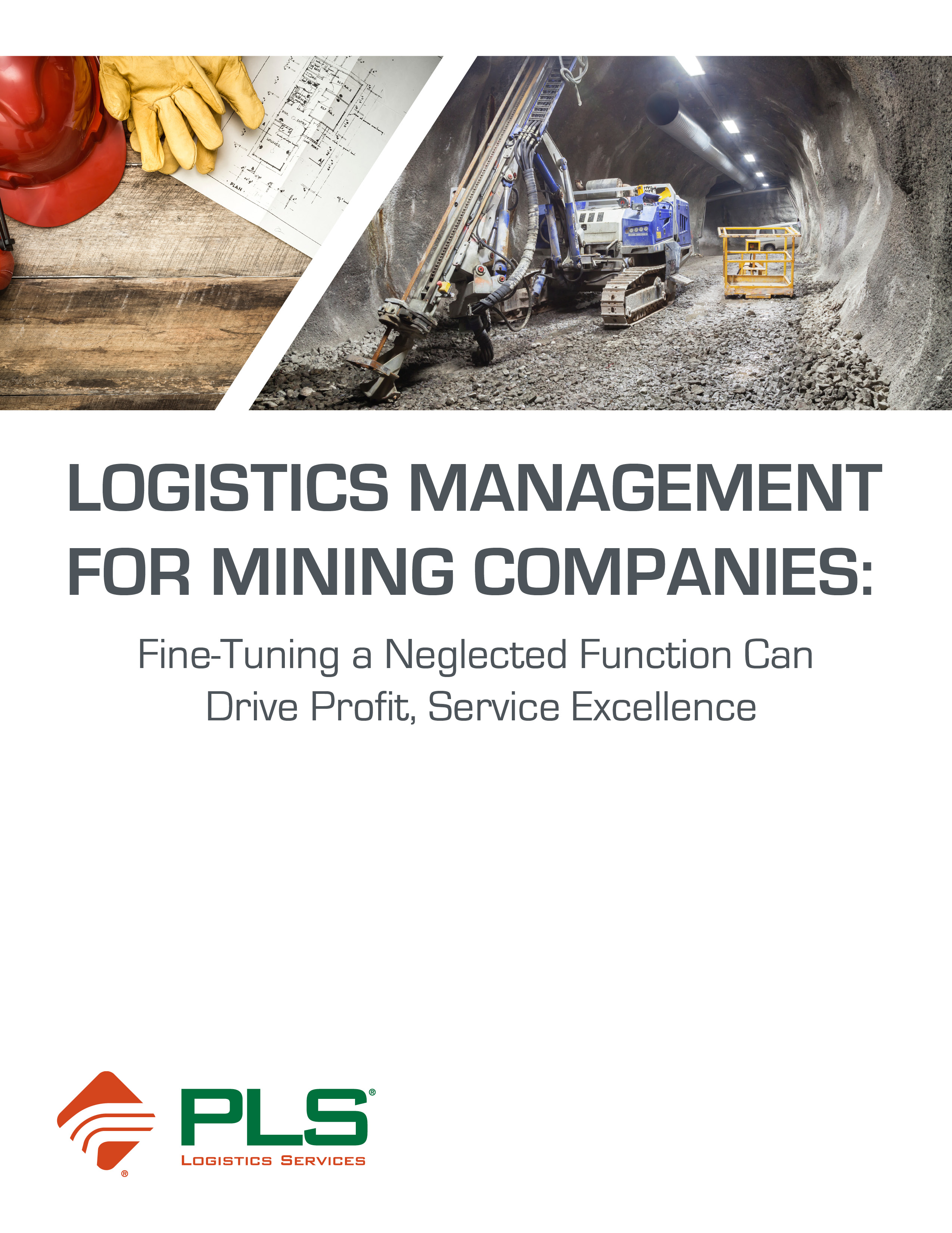 [Logistics Management for Mining Companies White Paper Cover]