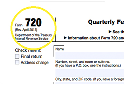 Form 720: New HRA Research Fee