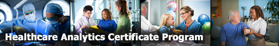 healthcare analytics certificate program header image