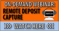 remote deposit capture, RDC, check payment processing