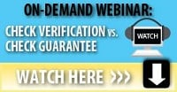 check guarantee, check verification, check processing webinar