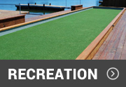 recreational artificial turf used on a bocce ball court