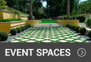 artificial grass in an event space outside