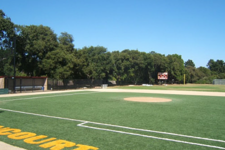 synthetic grass used on a baseball field