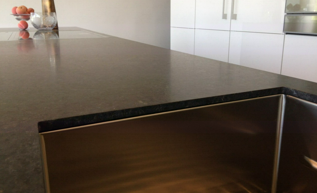 Thin Countertop Options : ... of kitchen countertops is shrinking. Photo courtesy of Polycor