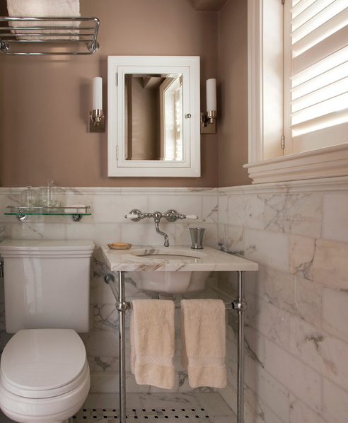 Cabinetry And Color Palettes For Luxury Kitchen & Baths With Gold Calacatta Marble