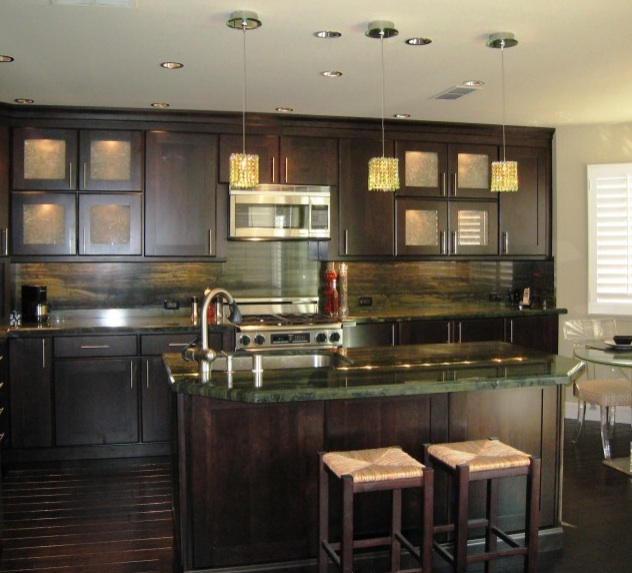 Green Kitchen With Dark Cabinets: Top 5 Granite Countertop Colors For Trendy Kitchens In 2012