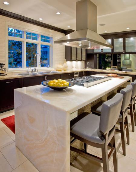 Luxurious island design ideas for high end kitchen countertops for High end kitchen island designs