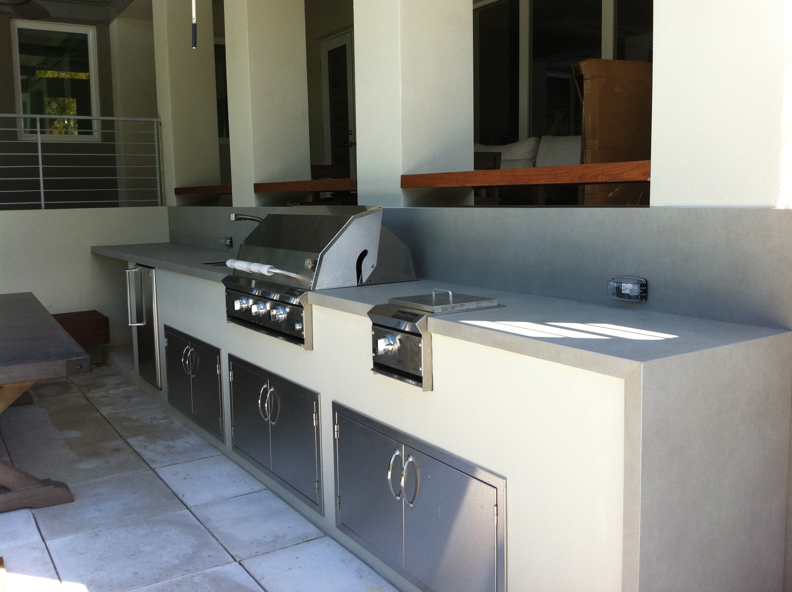 Neolith used in outside kitchen