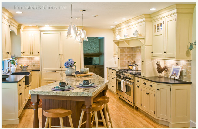 Thin Countertop Options : Thin perimeter paired with a thick island by Homestead Kitchens ...